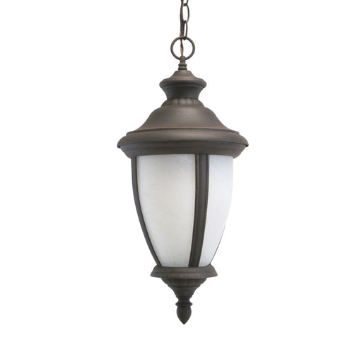 Adjustapost Lighting APX-C39HA-RU One Light Exterior Outdoor Hanging Pendant in Rust Finish