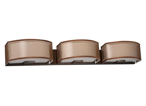 AFX CZV318KBSCT-BZWH Cortez Collection Three Light LED Bath Vanity Wall Mount in Oakley Bronze Finish