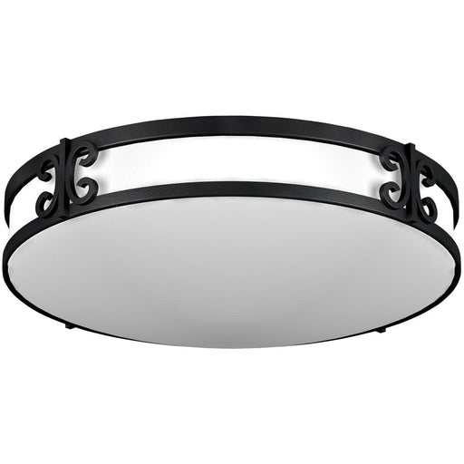 AFX CLF2232BKT Two Light Ceiling Fixture in Black Iron Finish
