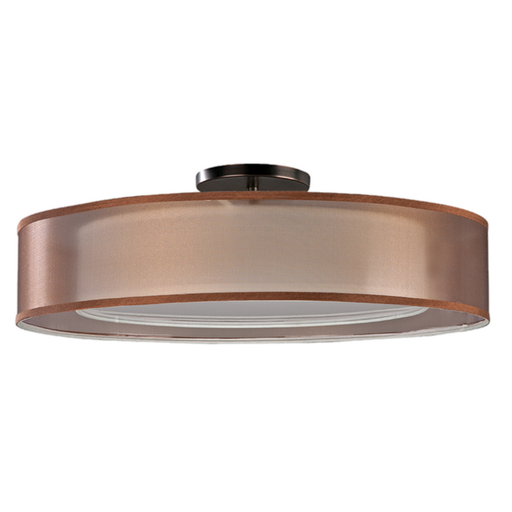 AFX CZF182400130D1KB-BZWH Cortez Collection LED Semi Flush Ceiling Light in Oakley Bronze Finish