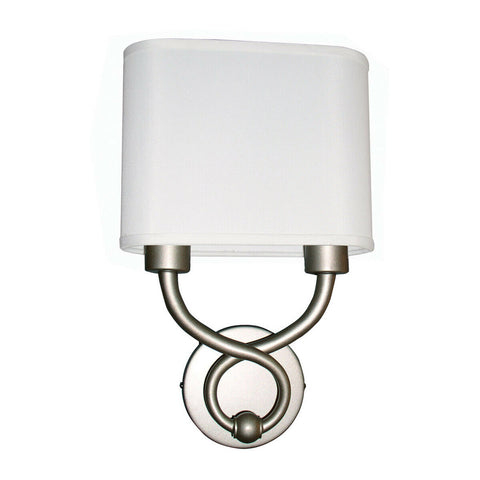AFX HZS1016218QENSNFSS Hudson Collection LED Wall Sconce in Satin Nickel Finish