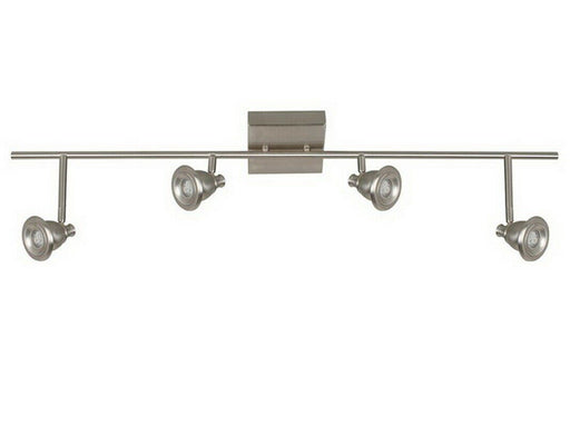 AFX 326724 Berlin Collection Four Light LED Flush Fixed Track in Satin Nickel Finish