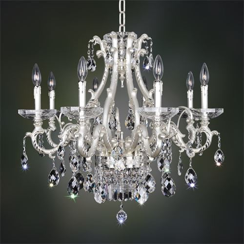 Kalco Lighting 024651-017-FR001H Rossi Collection Ten Light Hanging Chandelier in Two Tone Silver Finish