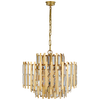Ambrois Model #VC20K7 Thirteen Light Chandelier in Hand-Rubbed Antique Brass with Crystal