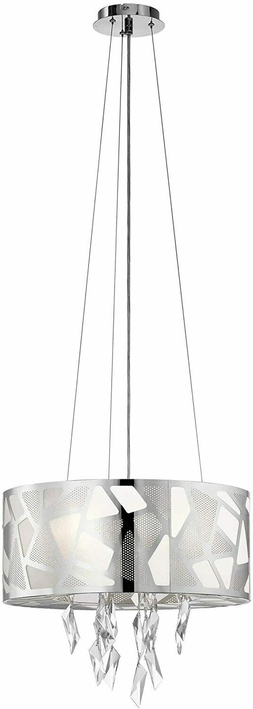 Elan by Kichler Lighting 83677 Angelique Collection Four Light Hanging Pendant Chandelier in Polished Chrome Finish