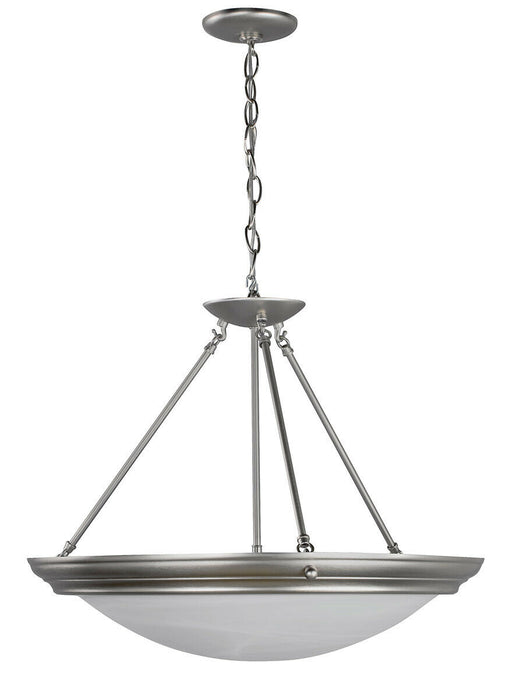 AFX H7313BNSCT-RA Three Light LED Pendant Chandelier in Brushed Nickel Finish