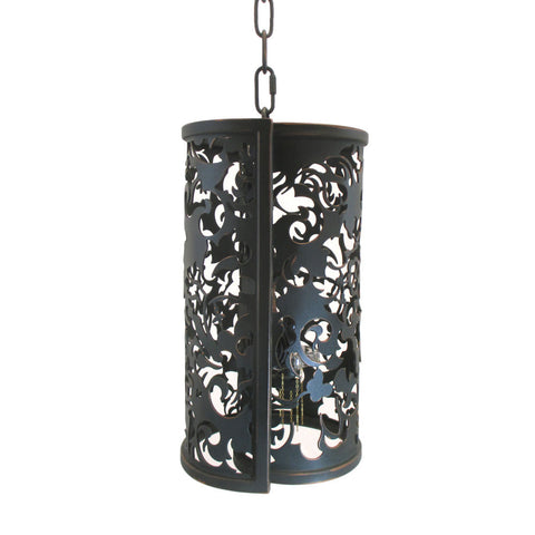 Kalco Lighting B2530 AC Ophelia Collection One Light Mini Pendant in Antique Copper Finish - Discount Lighting Fixtures