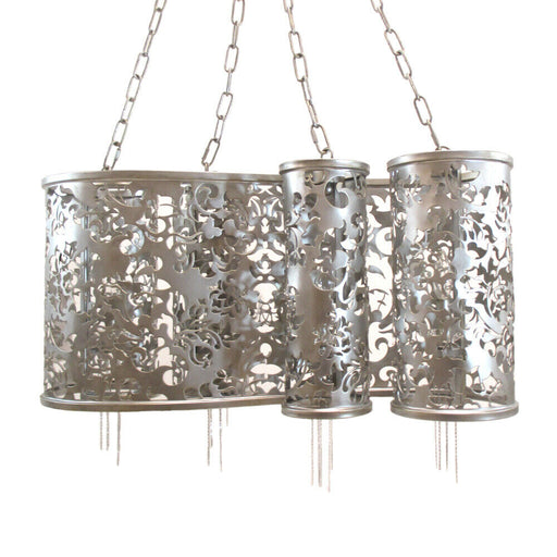 Kalco Lighting B2535 SV Ophelia Collection Four Light Pendant Chandelier in Antique Silver Finish