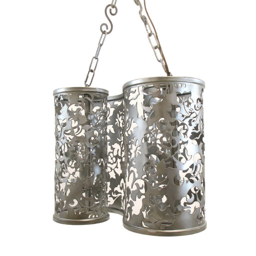 Kalco Lighting B2536 SV Ophelia Collection Two Light Pendant Chandelier in Antique Silver Finish