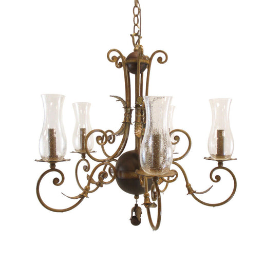 Kalco Lighting 2745 BG Bilston Collection Five Light Chandelier in Bellagio Gold Finish