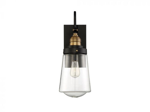 Macauley Model #2066 One Light Wall Sconce in Vintage Black with Warm Brass or Satin Nickel Finish