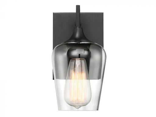 Octave Model #4030 One Light Wall Sconce in English Bronze, Warm Brass, Polished Chrome, or Black Finish