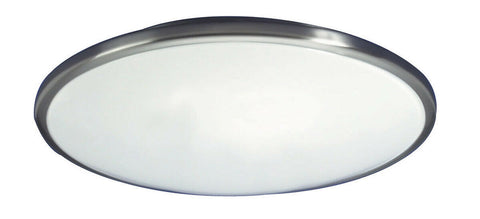 AFX CF2022BNET Euro Style Saucer One Light Energy Efficient Ceiling Fixture in Brushed Nickel Finish