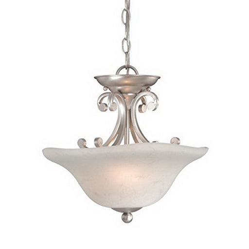 Vaxcel lighting cs cfu140 bn caspian collection two light hanging chandelier or semi flush ceiling