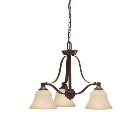 Kichler Lighting 1781 CST Langford Collection Three Light Hanging Chandelier in Canyon Slate Finish - Quality Discount Lighting