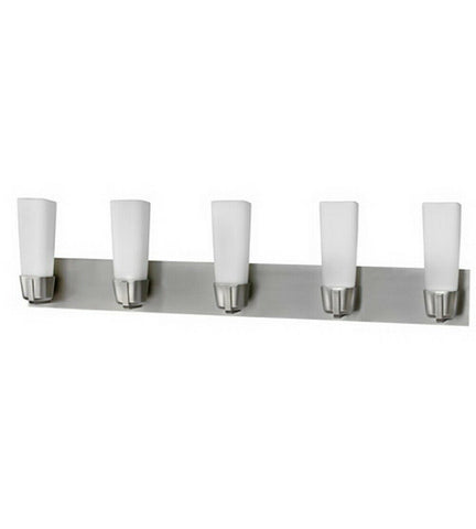 AFX DEV4518SNEC Delta Collection Five Light LED Bath Vanity Wall Mount in Satin Nickel Finish