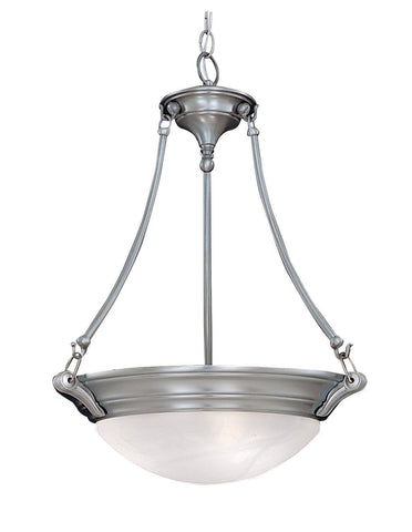 Designers Fountain Lighting 5694 PW Palladium Collection Three Light Hanging Pendant Chandeiler in Pewter Finish - Quality Discount Lighting
