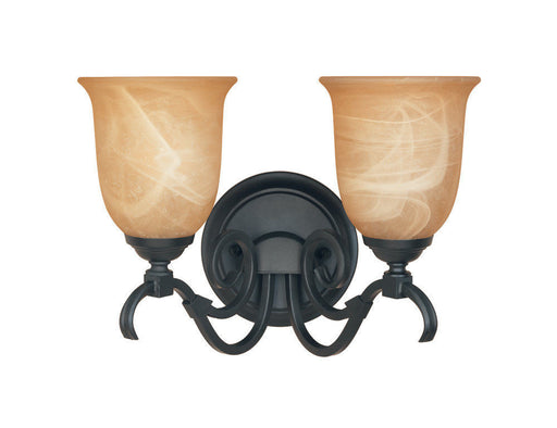 Designers Fountain Lighting 81702 BNB Montague Collection Two Light Bath Vanity Wall Mount in Burnished Bronze Finish - Quality Discount Lighting
