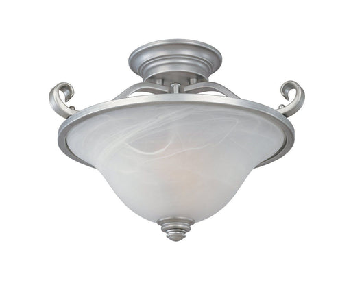 Designers Fountain Lighting 81711 MTP Montague Collection Two Light Semi Flush Ceiling Fixture in Matte Pewter Finish - Quality Discount Lighting