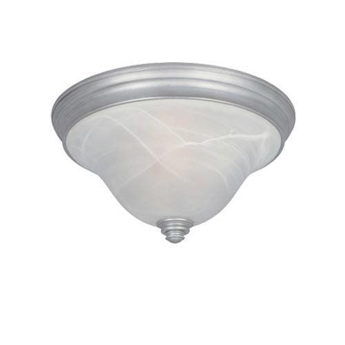 Designers Fountain Lighting 81721 MTP Montague Collection Two Light Flush Ceiling Fixture in Matte Pewter Finish - Quality Discount Lighting