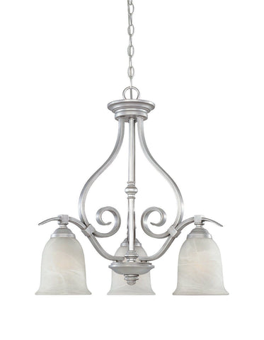 Designers Fountain Lighting 81783 MTP Montague Collection Three Light Hanging Chandelier in Matte Pewter Finish - Quality Discount Lighting