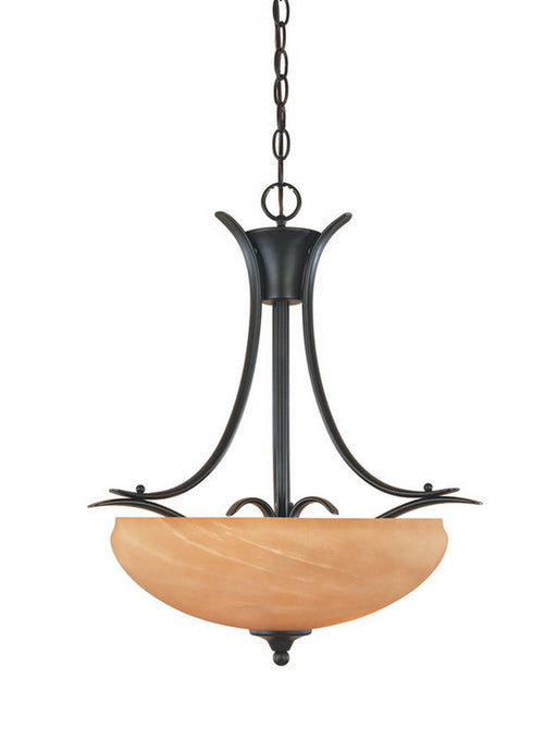 Designers Fountain Lighting 82031 BNB Moon Shadow Collection Three Light Hanging Pendant Chandelier in Burnished Bronze Finish - Quality Discount Lighting
