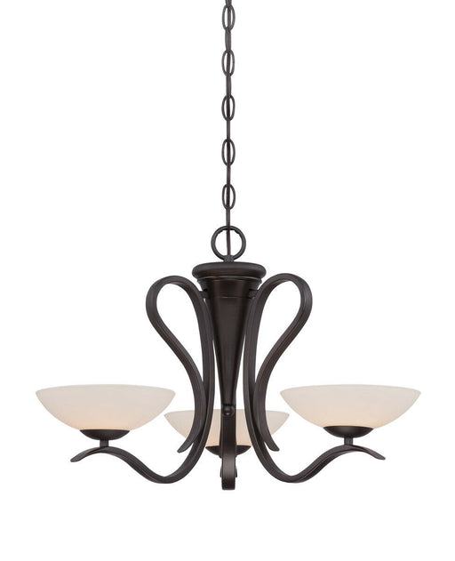 Designers Fountain Lighting 86783 ORB Galena Collection Three Light Hanging Chandelier in Oil Rubbed Bronze Finish