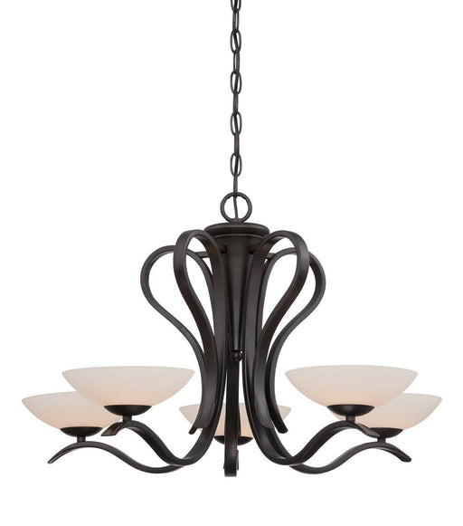 Designers Fountain Lighting 86785 ORB Galena Collection Five Light Hanging Chandelier in Oil Rubbed Bronze Finish
