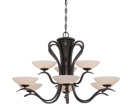 Designers Fountain Lighting 86789 ORB Galena Collection Nine Light Hanging Chandelier in Oil Rubbed Bronze Finish