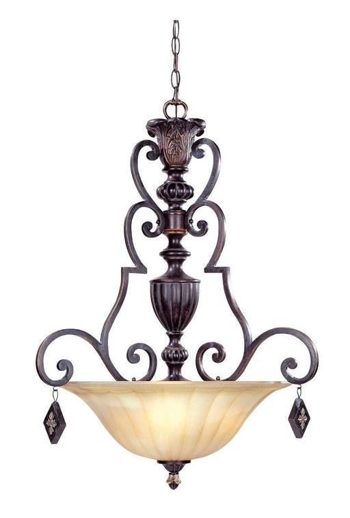Designers Fountain Lighting 94233 SE Savannah Collection Three Light Pendant Chandelier in Sierra Finish - Quality Discount Lighting