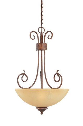 Designers Fountain Lighting 99331 AUB Belaire Collection Three Light Hanging Pendant Chandelier in Aged Umber Bronze Finish - Quality Discount Lighting