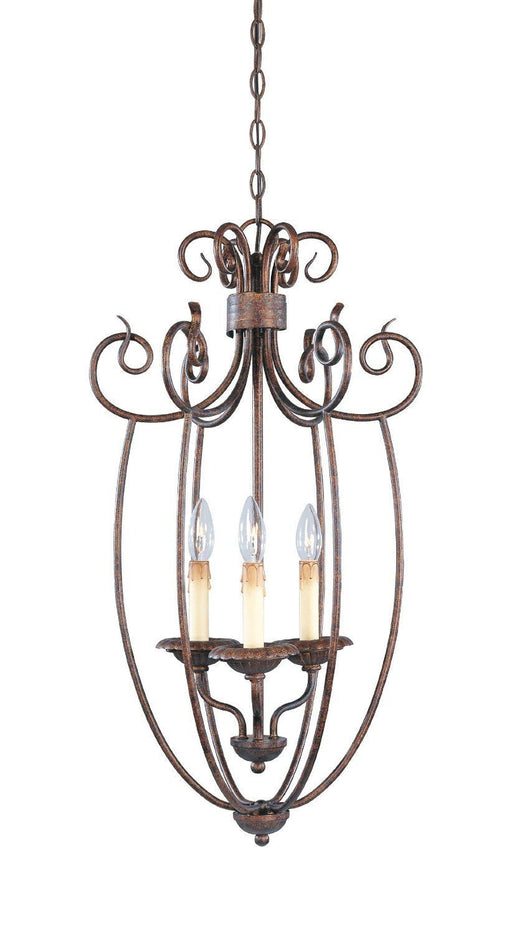 Designers Fountain Lighting 99353 AUB Belaire Collection Three Light Hanging Pendant Chandelier in Aged Umber Bronze Finish - Quality Discount Lighting