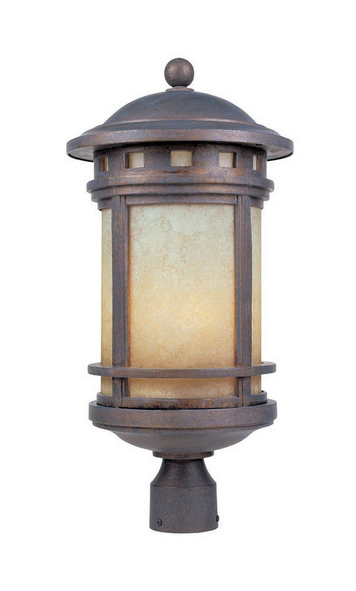 Designers Fountain Lighting T2396CFL AM-MP Exterior Outdoor Post Lantern in Mediterranean Patina Finish - Quality Discount Lighting