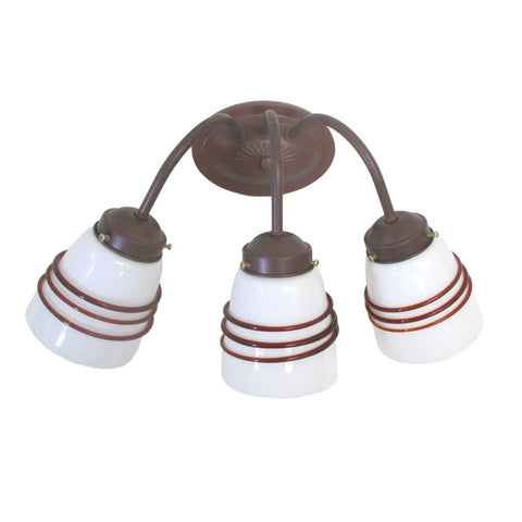 Epiphany Lighting 106032 CS-CLG12 Three Light Bath Wall Fixture in Cobblestone Finish - Quality Discount Lighting
