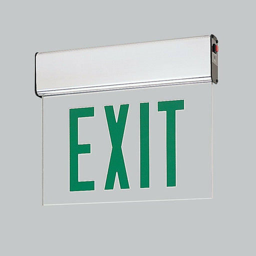 Nora Lighting NX-506-LEDG2MA Green LED Double Face Edge-Lit Exit Sign