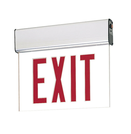 Nora Lighting NX-506-LEDR1CA Red LED Single Face Edge-Lit Exit Sign