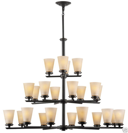 Forecast Lighting FDS1630-60 Ensemble-Town & Country Collection Twenty Four Light Chandelier in Deep Bronze Finish