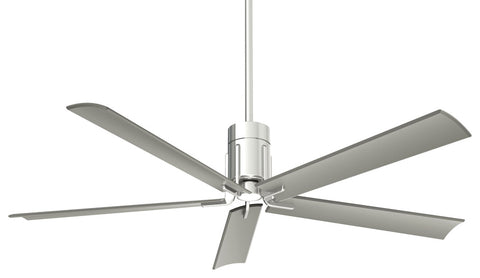 "Minka Aire SPECIAL ORDER F684L-PN Clean Collection 60"" Ceiling Fan in Polished Nickel Finish"