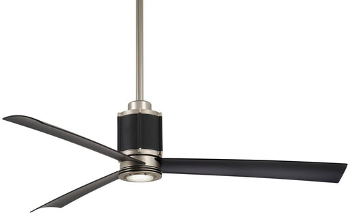 "Minka Aire SPECIAL ORDER F736L-BS/DBK Gear Collection 54"" Ceiling Fan in Brushed Steel Finish"