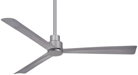 "Minka Aire SPECIAL ORDER F787-SL Simple Collection 52"" Ceiling Fan in Silver Finish"