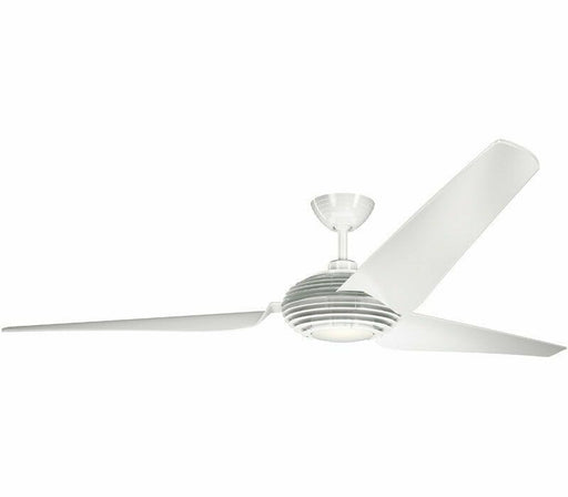 "Kichler Lighting 300704WH Voya Collection 84"" Ceiling Fan in White Finish"
