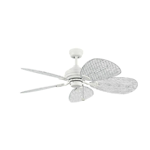 Kichler Lighting 337018-MWH/370052 Klever Collection Indoor/Outdoor Ceiling Fan in Matte White Finish