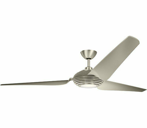 "Kichler Lighting 300704BSS Voya Collection 84"" Ceiling Fan in Brushed Stainless Steel Finish"