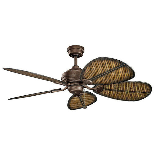 Kichler Lighting 337018-WCP/370051 Klever Collection Indoor/Outdoor Ceiling Fan in Weathered Copper Finish