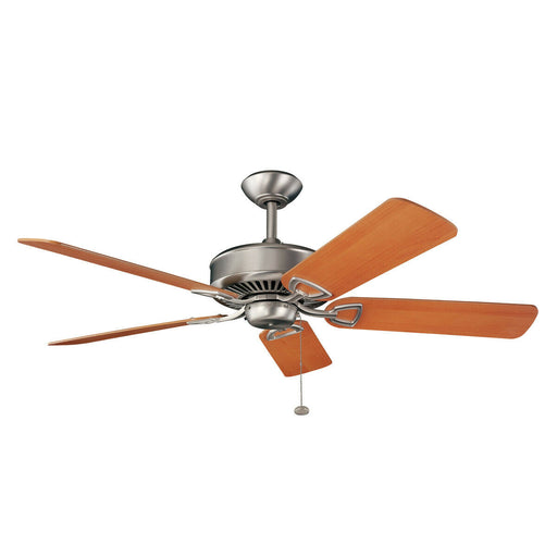 "Kichler Lighting 300104NI-35091 KedronCollection 54"" Ceiling Fan in Brushed Nickel Finish"