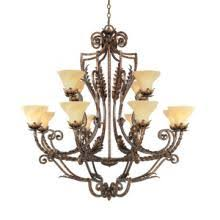 Hinkley Lighting Fredrick Ramond FR49341GQU Twelve Light Hanging Chandelier in Gold Quartz Finish