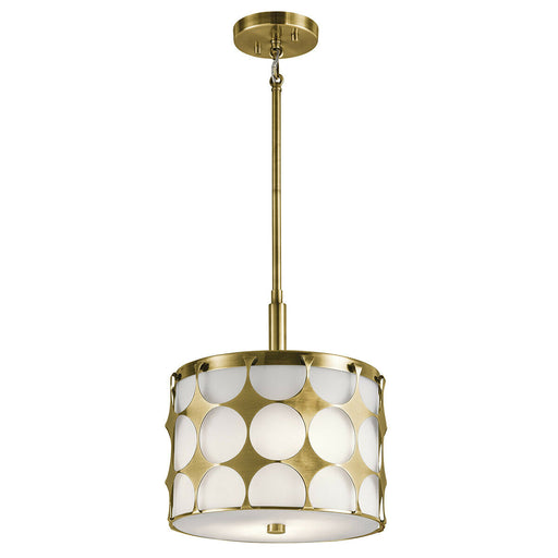 Kichler Lighting 43275 NBR Charles Collection Two Light Pendant in Natural Brass Finish