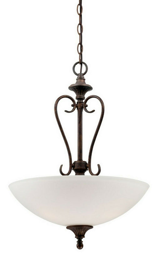 Designers Fountain Lighting 84831 BU Helena Collection Three Light Hanging Pendant Chandelier in Burnt Umber Finish