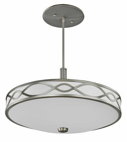AFX HZP413SNMV Hudson Collection Pendant Chandelier in Satin Nickel Finish