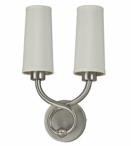 AFX HZS218SNEC-FC Hudson Collection Two Light LED Wall Sconce in Satin Nickel Finish